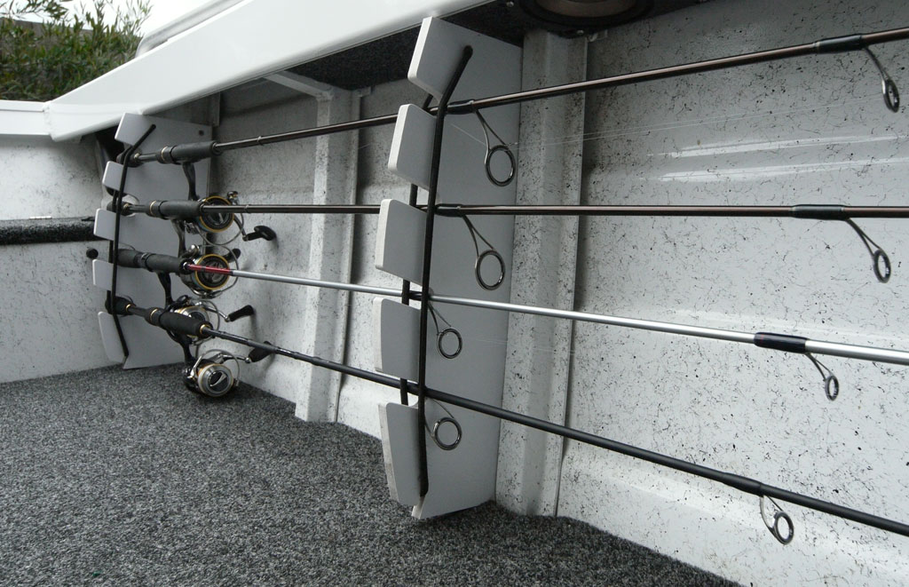 diy fishing boat rod storage rack